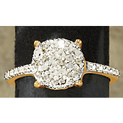 diamond round cluster ring 40