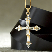 white topaz cross pendant 27