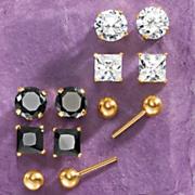 3-Pair Post Earrings Set