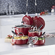 10 piece nonstick aluminum cookware set by guy fieri