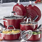 10 piece nonstick aluminum cookware set by guy fieri