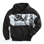 eagle and american iron hoodie