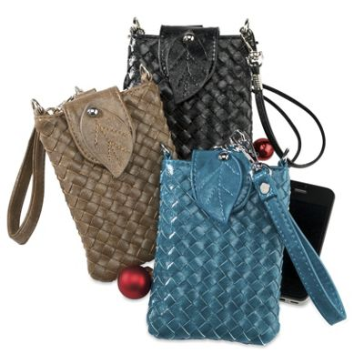 Woven Smartphone Wristlet/Crossbody Bag