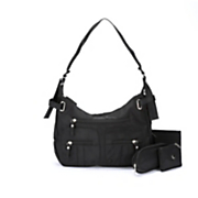 3-Piece Black Handbag Set