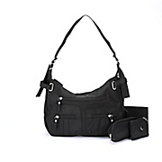3-Piece Black Handbag Set