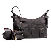 4 Piece Black Handbag Set