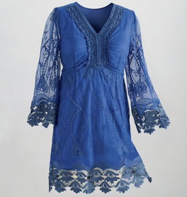 Lake Belle Embroidered Floral Tunic