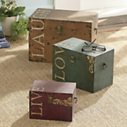 3 piece live love laugh storage box set