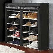 double shoe closet
