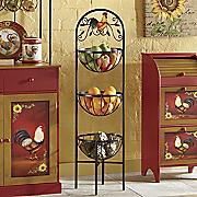 rooster 3 basket rack