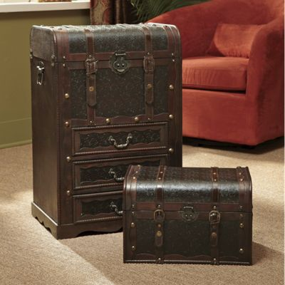 Set of 2 Gibraltar Storage Trunks