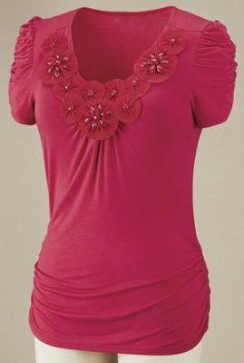 Pinwheel Blossom Top