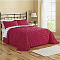 Diamond-Tufted Chenille Bedspread