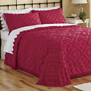 Diamond-Tufted Chenille Bedspread and Sham