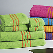 6 piece cotton brights towel set
