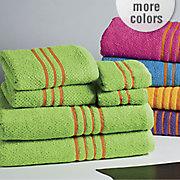6 piece cotton brights towel set