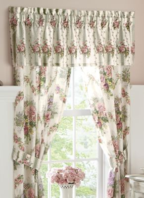 Cottage Rose Window Treatments