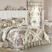 Cottage Rose Comforter Set, Window Treatments and Pillow