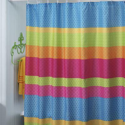 Go Geo Bright Shower Curtain