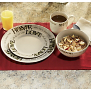 16 piece sentiments dinnerware set