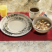 16 piece sentiments dinnerware set