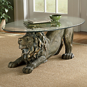 crouching lion table