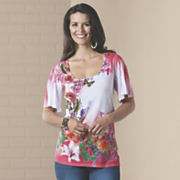 floral bouquet butterfly top
