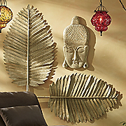 Set of 2 Gold Cleopatra Leaves