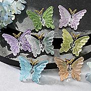 7-Piece Glass Butterfly Set