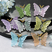 7 piece glass butterfly set