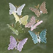 7 piece glass butterfly set