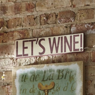 Lets Wine Wooden Sign