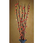 lighted flower branch
