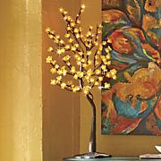 orange lighted tree