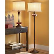 amber crackled glass floor lamp