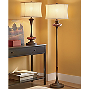 amber crackled glass lamps
