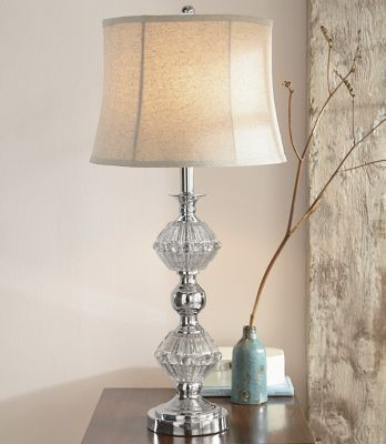 Pattypan Mercury Glass-Style Lamp