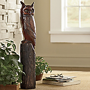 great horned owl statue