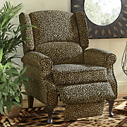 leopard wingback recliner