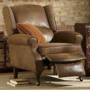 Holmes Distressed Faux Leather Recliner