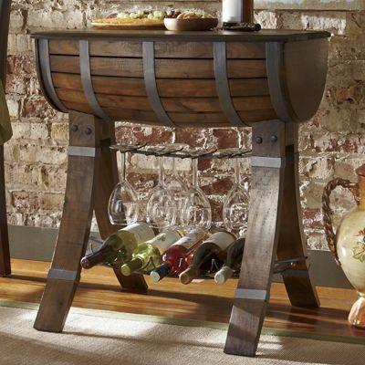 Bella Sera Wine Rack Barrel Table From Seventh Avenue