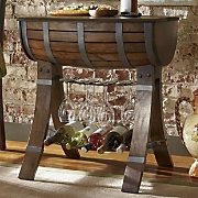 bella sera wine rack barrel table