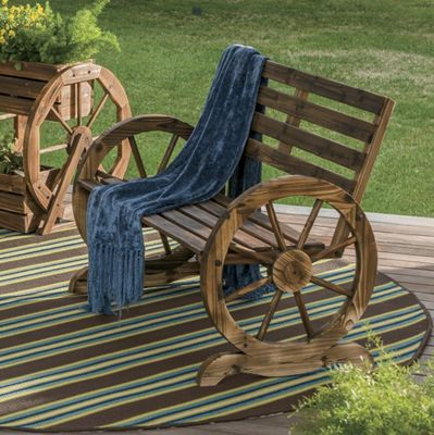 Wagon Wheel Bench From Seventh Avenue 705605