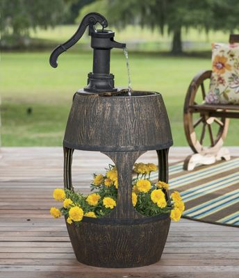 Barrel Fountain & Planter