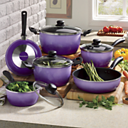10 piece nonstick flair cookware set by seventh avenue