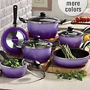 10 piece nonstick flair cookware set by seventh avenue