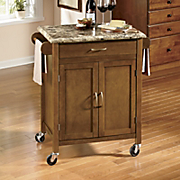 faux marble top kitchen cart