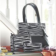 3-Piece Zebra Bag Set