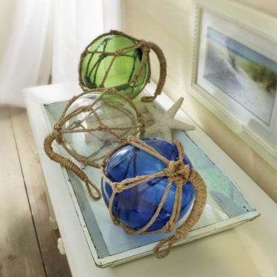 Glass Floats with Rope
