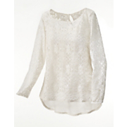celtic lace chiffon top